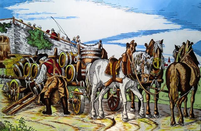 valník a koně