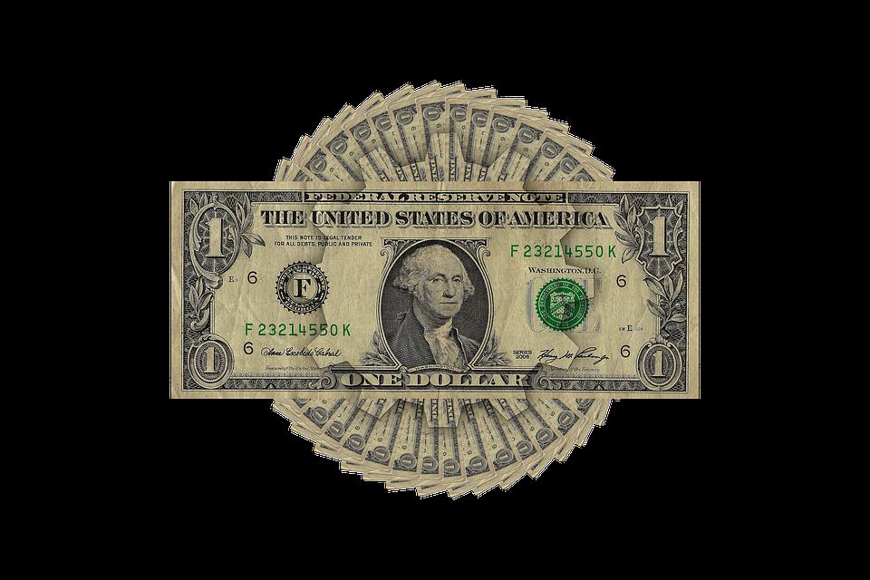 poskládané dolary